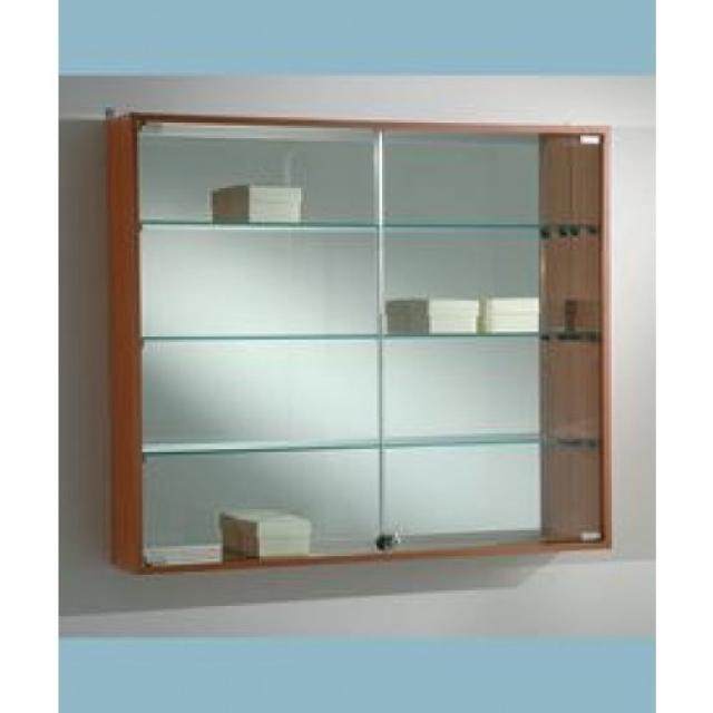vetrinetta da parete light 95x15x81H, ripiani in cristallo