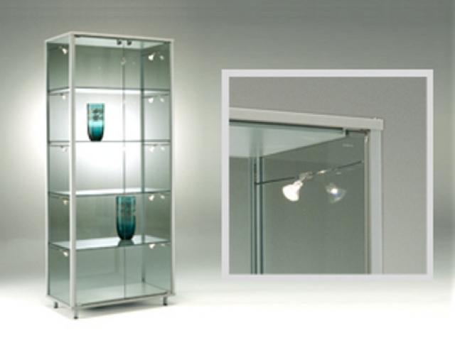 Vetrinette moderne per soggiorno vetrina angolare con piedistallo