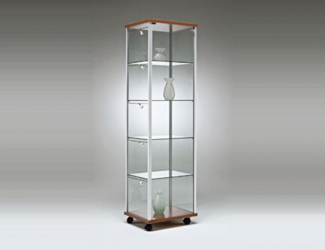 Idea vetrinetta da pavimento dimensioni 52x52x182h cm - Vetrinette da parete ...