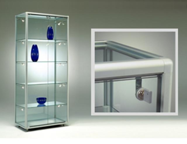 Vetrinetta alfa profili stondati per una vetrina che si adatta ad ogni spazio - Vetrinette da parete ...