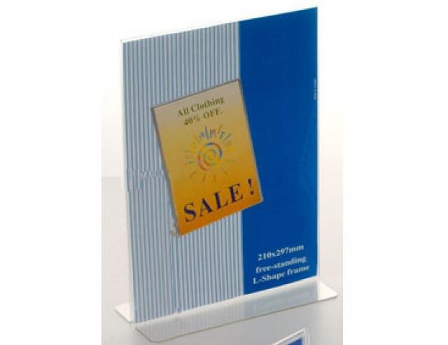 Portamessaggi da banco bifacciale ideale anche in vetrina - Porta messaggi ...