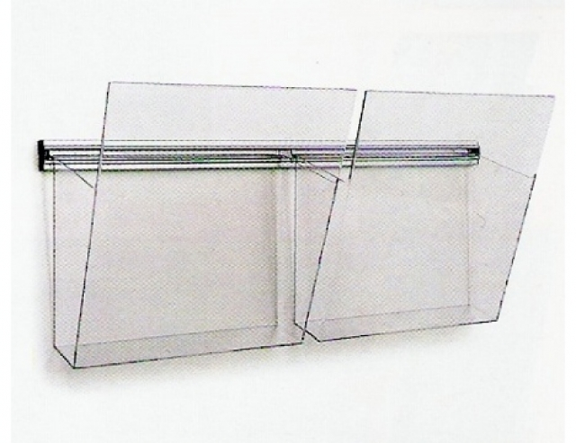 Porta depliant da parete, singoli, modulari, in plexiglas, multitasca.